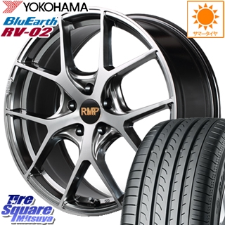 YOKOHAMA ヨコハマ ブルーアース RV-02 ミニバン サマータイヤ 215/50R18 MANARAY RMP-025F ホイールセット 18インチ 18 X 7.0J +50 5穴 100