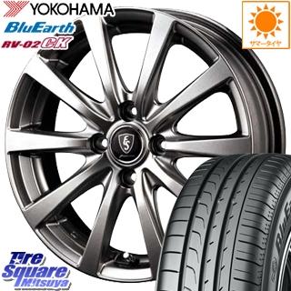 YOKOHAMA ヨコハマ ブルーアース RV-02CK サマータイヤ 185/65R15 MANARAY EUROSPEED ユーロスピード G10 ホイールセット 4本 15インチ 15 X 5.5 +50 4穴 100