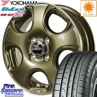 【4/25 Rカードで最大P35倍!】 MANARAY MOSH CAT モッシュキャット ホイールセット 14インチ 14 X 4.5J +45 4穴 100YOKOHAMA ヨコハマ ブルーアース RV-02CK 軽自動車 サマータイヤ 155/65R14