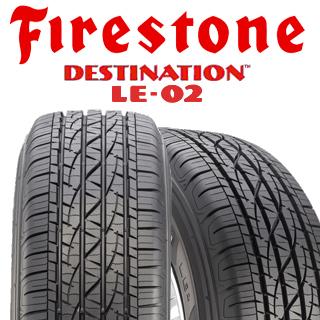 ファイアストン DESTINATION LE-02 サマータイヤ 225/65R17 4本セット タイヤのみ サマータイヤ 17インチ ゴムバルブサービス特典付き!