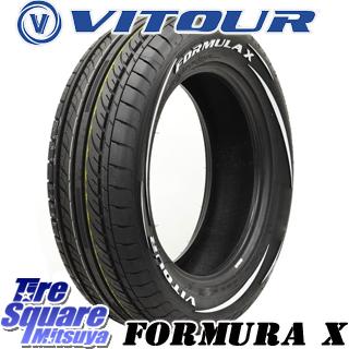 VITOUR FORMULA X ホワイトレター サマータイヤ 205/55R16 HotStuff エクシーダー E03 4本 ホイールセット 16インチ 16 X 6.5 +38 5穴 114.3