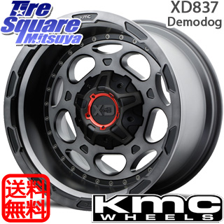 【6/20は最大28倍】 ラングラー KMC XD837 Demodog ホイールセット 20インチ 20 X 9.0J +0 5穴 127MAXXIS MT-762 BIGHORN ブラックウォール 325/60R20