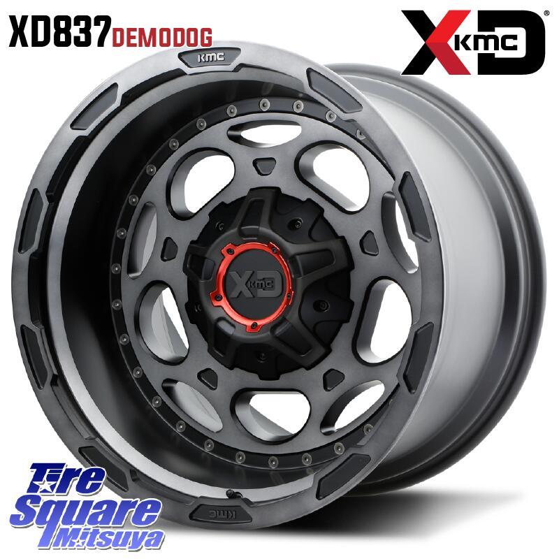【8/25は最大21倍】 ラングラー KMC XD837 Demodog ホイールセット 20インチ 20 X 9.0J +0 5穴 127NITTO ニットー Ridge Grappler サマータイヤ 37X/12.50R20