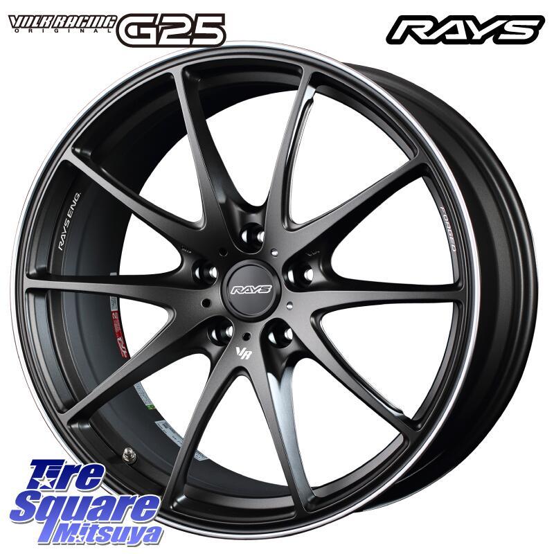 【6/25は最大26倍】 RAYS G25 レイズ ボルクレーシング 鍛造 ホイールセット 18インチ 18 X 7.5J +48 5穴 114.3KENDA ケンダ KUAVELA SL KR32 サマータイヤ 215/40R18
