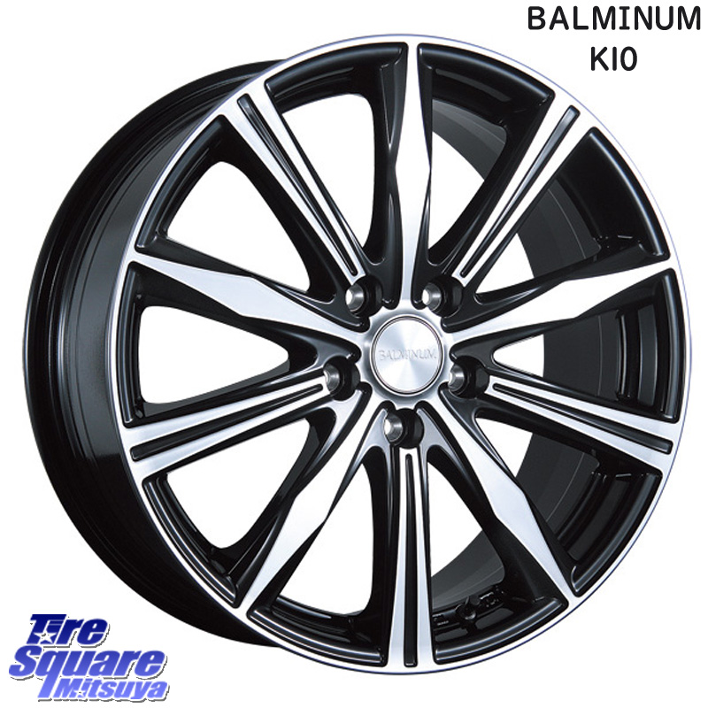 YOKOHAMA ADVAN sport V105 F サマータイヤ 225/40R18 ブリヂストン BALMINUM K10 ホイールセット 4本 18 X 7.5 +42 5穴 114.3