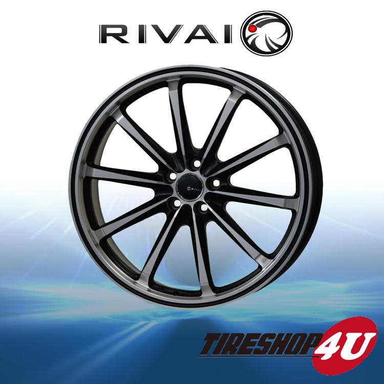 19インチ Rivai Moral(リヴァイ モラル) 19×8.0J 5/100+45 MBP(マットブラックポリッシュ)特選タイヤ 215/35R19 or 225/35R19 新品タイヤ・アルミホイール4本セット価格 プリウス