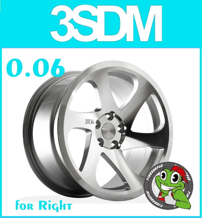 新品アルミホイール1本価格 18インチ3SDM 0.06 RH 18×8.5J 5/112 +42シルバーカットフェイス スリーエスディエム 国内正規輸入品 メルセデスベンツ VW AUDI