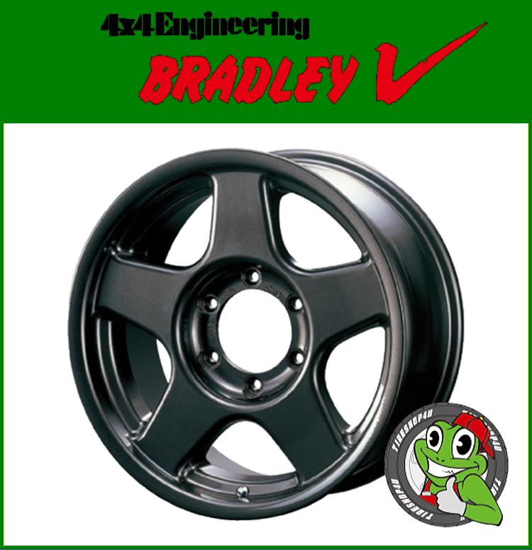 16インチBRADREY V(ブラッドレイ ブイ) 16×5.5J 5/139.7 +22 GM(ガンメタリック) ジムニー AZオフロード 新品アルミホイール単品1本価格 JWL/JWL-T規格適合/VIA規格適合