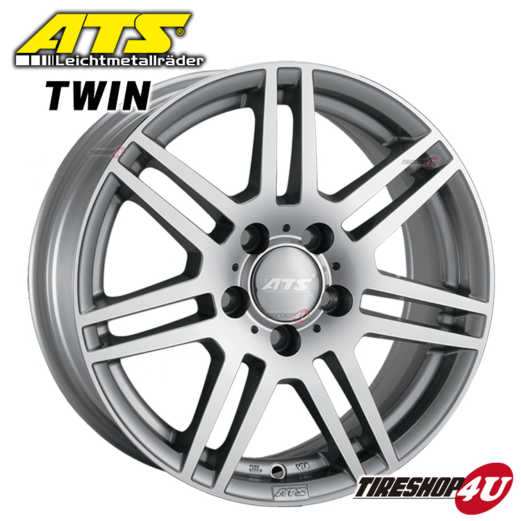 新品 ATS TWIN 1770 17x7.0 5/112 INSET50 メルセデスベンツ Bクラス(W245) Aクラス(W169/W176) 1台分で送料無料