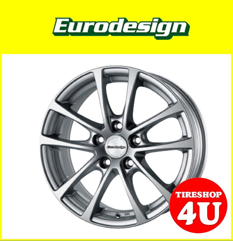新品アルミホイール1本価格 16インチEurodesign FOX-R 16×6.5J 5/112 +45 HUB:57.1φ純正ボルト対応ハイパーシルバー VW専用 ゴルフ5 ゴルフ6 トゥーラン ザ・ビートル
