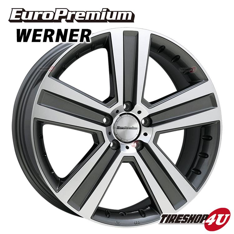 19インチEuroPremium WERNER(ユーロプレミアム ヴェルナー) 19×8.5J 5/112 +60 HUB:66.6φガンメタリックポリッシュ メルセデスベンツ GL350(X166) 新品アルミホイール1本価格 ※純正ボルト・センターキャップ対応