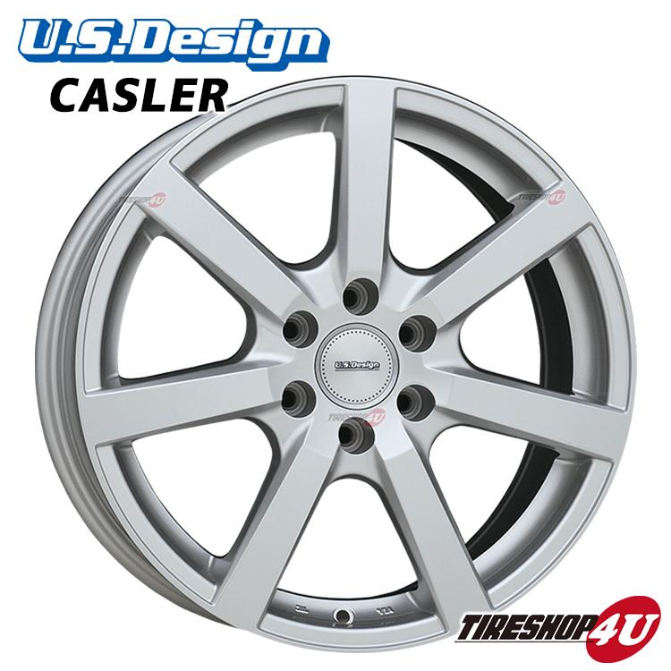 18インチU.S.Design CASLER(USデザイン キャスラー) 18×8.0J 5/114.3 +45 HUB:63.4φシルバー フォード エクスプローラー(HK8、HK9) 新品アルミホイール1本価格