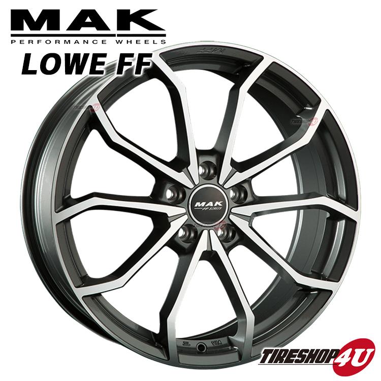 19インチMAK LOWE FF(マック レーベエフエフ) 19×8.0J 5/112 +50 HUB:57.1Φガンメタリックミラー Audi TT(8J)A3/S3/RS3(8P/8V) 軽量フローフォーミング 純正ボルト対応 新品アルミホイール1本価格