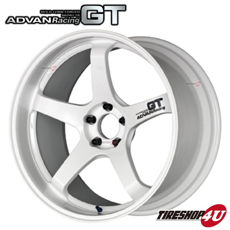 20インチADVAN Racing GT 20×9.0J 5/120 +17 HUB:72.5φWW(レーシングホワイト) アドバンレーシング 新品アルミホイール1本価格 MOLD-FORM FORGED BMW