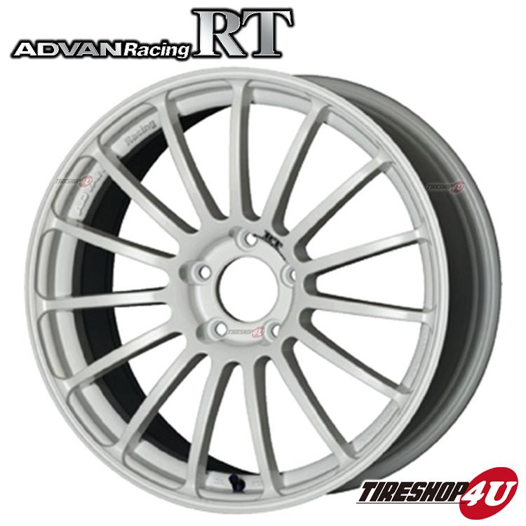 17インチADVAN Racing RT 17×8.0J 5/100 +50 HUB:63φWW(レーシングホワイト) アドバンレーシング 新品アルミホイール1本価格 フローフォーミング
