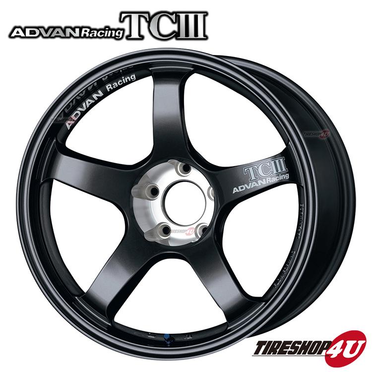 18インチADVAN Racing TC3 18×8.0J 5/114.3 +38 HUB:73φDG(ダークガンメタリック) アドバンレーシング 新品アルミホイール1本価格