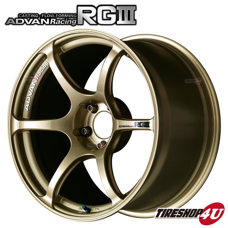 18インチADVAN Racing RG3 18×7.5J 5/100 +50 HUB:63φRGM(レーシングゴールドメタリック) アドバンレーシング 新品アルミホイール1本価格