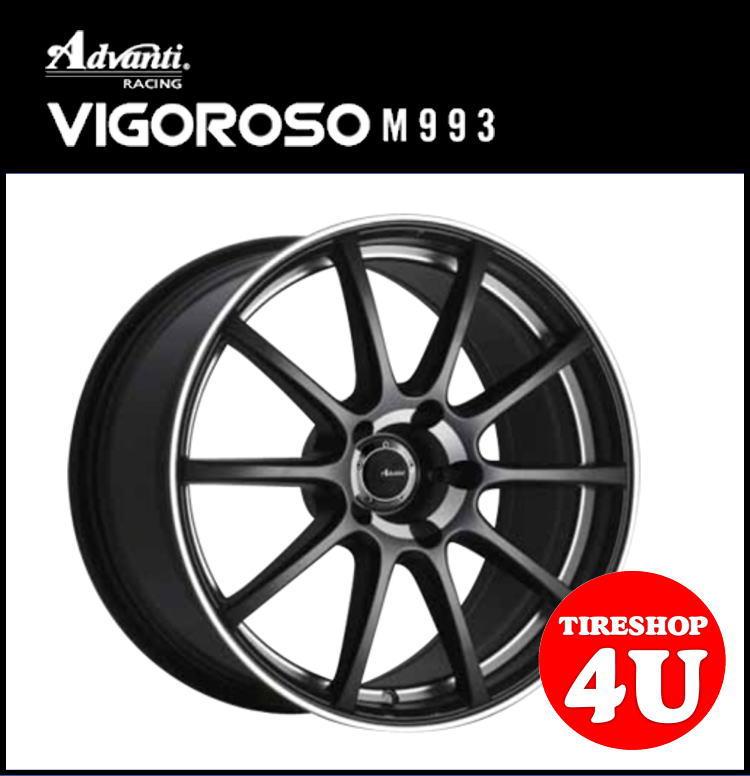 18インチAdvanti RACING VIGOROSO M993 18×8.0J 5/112 +45 HUB:66.6Φマットブラック&マシニング アドヴァンティレーシング ヴィゴロッソ 鋳造 新品アルミホイール1本価格 ENKEI MAT製法 パサート、ゴルフ5、ゴルフ6、AUDI A4(8K)