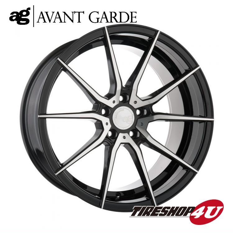 20インチ アウディ A6(4G) ag wheels M652 20×8.5J ブラックマシン/グロスブラック/マットブラック/ブロンズ/ガンメタ(AVANTGARDE)当社指定輸入タイヤ 255/35R20 新品タイヤホイールセット4本価格