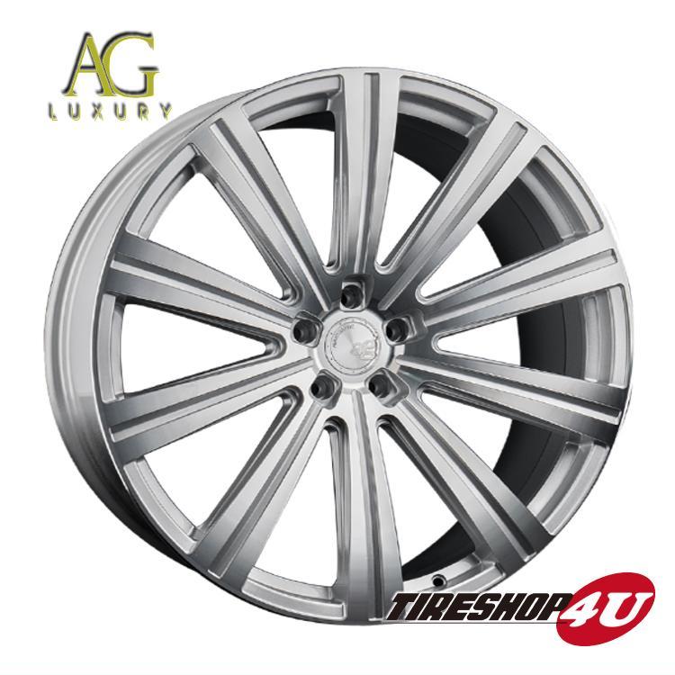 24インチ ポルシェ カイエン(958)AGラグジュアリー ヴァンガード 24×10.0J マシンシルバー(AVANTGARDE)当社指定輸入タイヤ 275/30R24 新品タイヤホイールセット4本価格