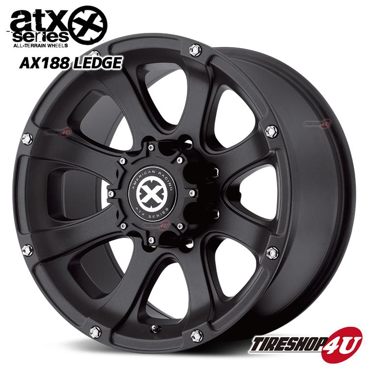 20インチATX AX188 LEDGE 20×8.5J 6/135 +35テフロンコート(ブラック) ATX レッジ FORD F-150 リンカーン ナビゲーター 新品アルミホイール1本価格