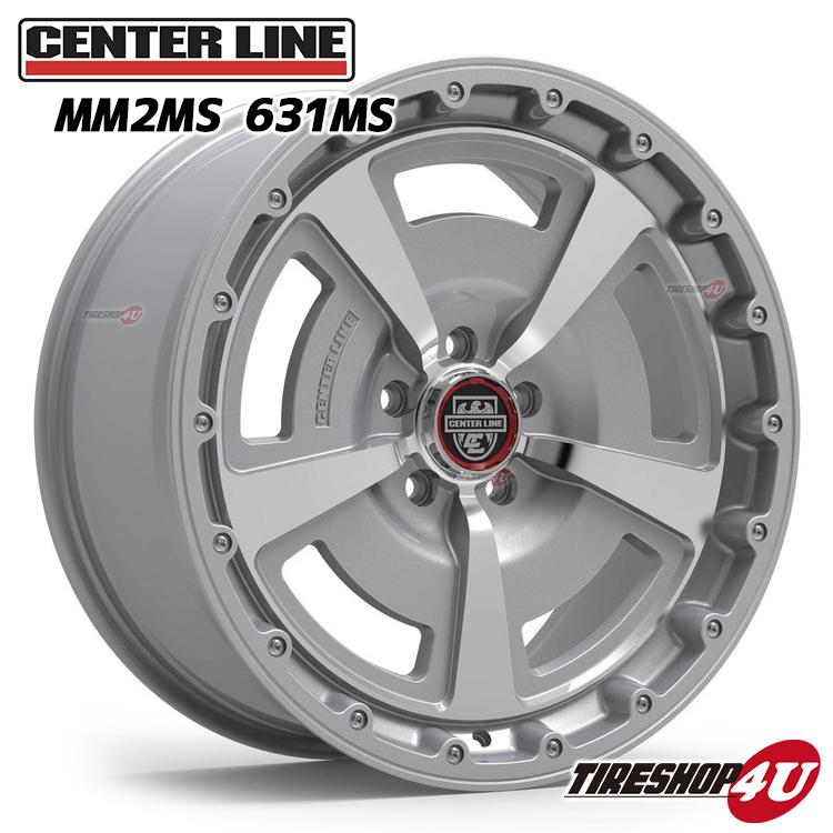 MM2 20x9.0J センターラインMS:グロスシルバーwithマシーンフェイス 5/114.3 5/115 5/120 Center Line Alloy Wheels モダンマッスル Modern Muscle Series )(1本価格)アメリカンマッスル