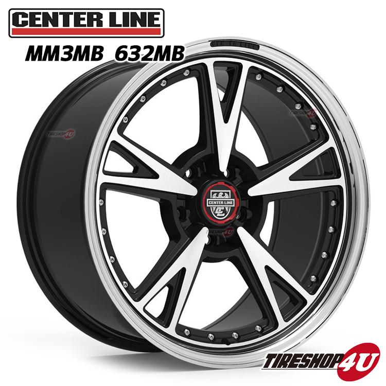 MM3 20x10.5J センターラインMB:グロスブラックwithマシーンフェイス 5/114.3 5/115 5/120 Center Line Alloy Wheels モダンマッスル Modern Muscle Series (リヤ用)(1本価格)アメリカンマッスル