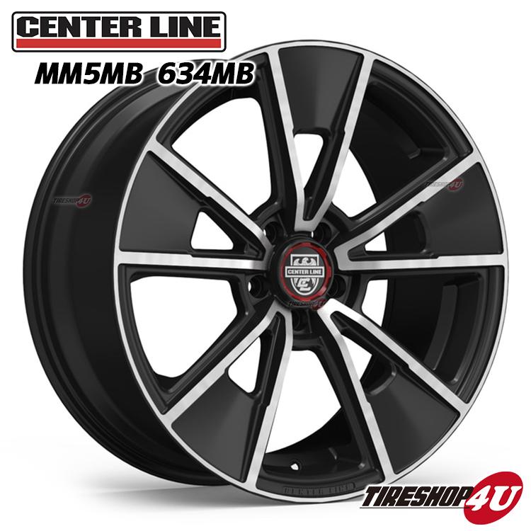 MM5 20x10.5J センターラインMB:グロスブラックwithマシーンフェイス 5/114.3 5/115 5/120 Center Line Alloy Wheels モダンマッスル Modern Muscle Series (リヤ用)(1本価格)