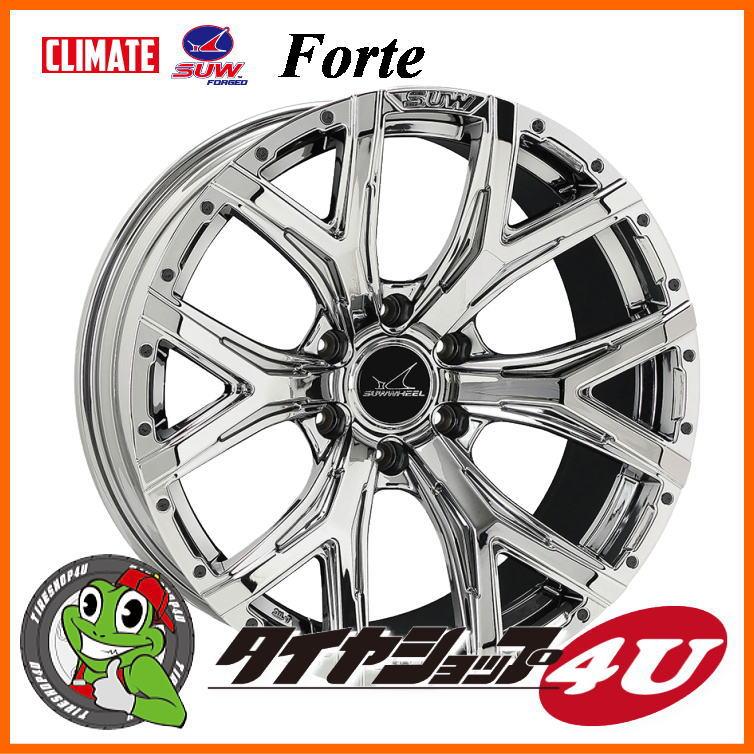 22インチ SUW Forte 22x9.5 5/150+45 HUB Φ110 SUPER CHROME 200ランドクルーザー LEXUS LX