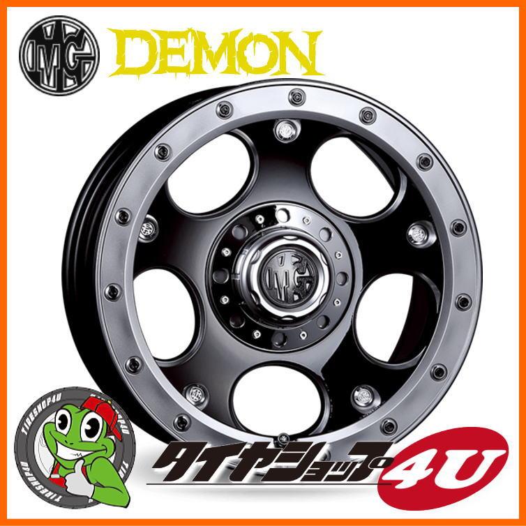 品質満点! 取付対象 17インチ クリムソン MG MG デーモン 17x8.0 デーモン ブラックポリッシュトーヨー オープンカントリーM/T クリムソン 265/70R17タイヤホイール4本セット FJクルーザー、プラド120/150、ハイラックス125(要リフトアップ)など 新品, ミノチョウ:2ce727cc --- 14mmk.com