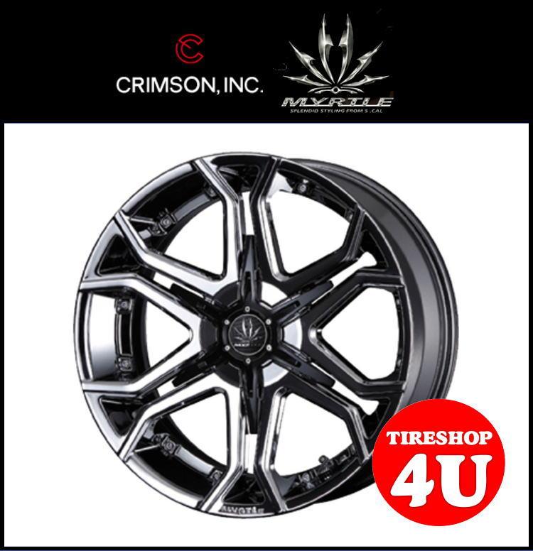 20インチ CRIMSON MTRTLE BULLHORN クリムソン マーテル ブルホーン 20×8.5J メタルコート/ブラックインサート265/45R20 ムラーノ(Z50) 新品タイヤホイール4本セット価格