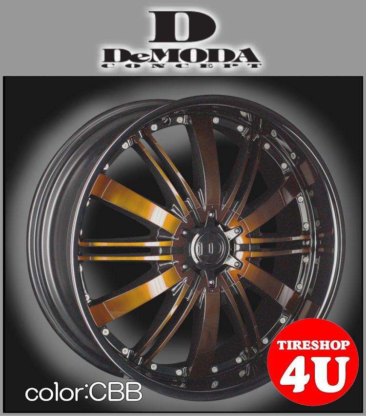 20インチDeMODA Absolute(ディモーダ アブソリュート) トゥアレグ カイエン Q7 20×8.5J 5/130 ET35 バーボンブラック(CBB)265/45R20 新品タイヤホイール4本セット価格 正規輸入品 JWL規格適合品