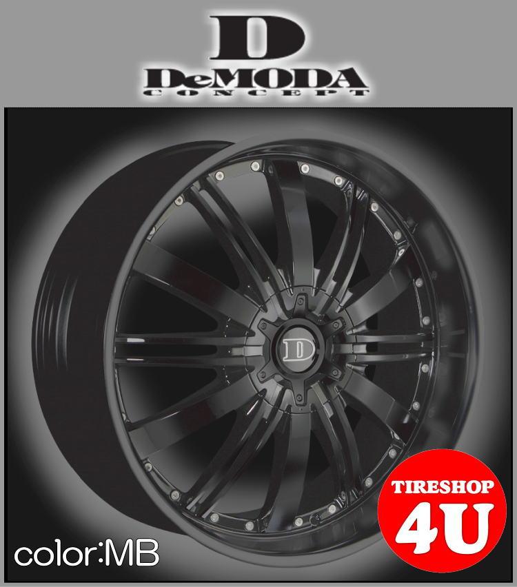 22インチDeMODA ディモーダ Absoluter アブソリュート マットブラック30ハリアー ハリアー ハリアーハイブリット ACU30W タイヤ付4本SET