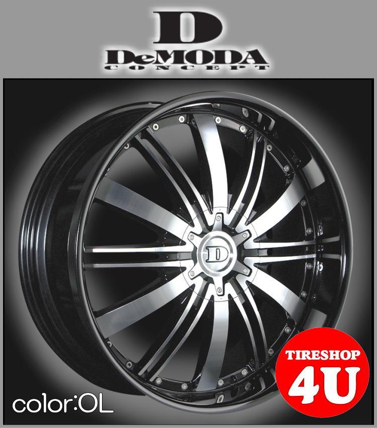 22インチDeMODA ディモーダ Absoluter アブソリュート オニキスリップムラーノ ヴァンガード CX-7 レクサス RX スカイラインクーペ インフィニティFX35 エクスプローラー タイヤ付4本SET