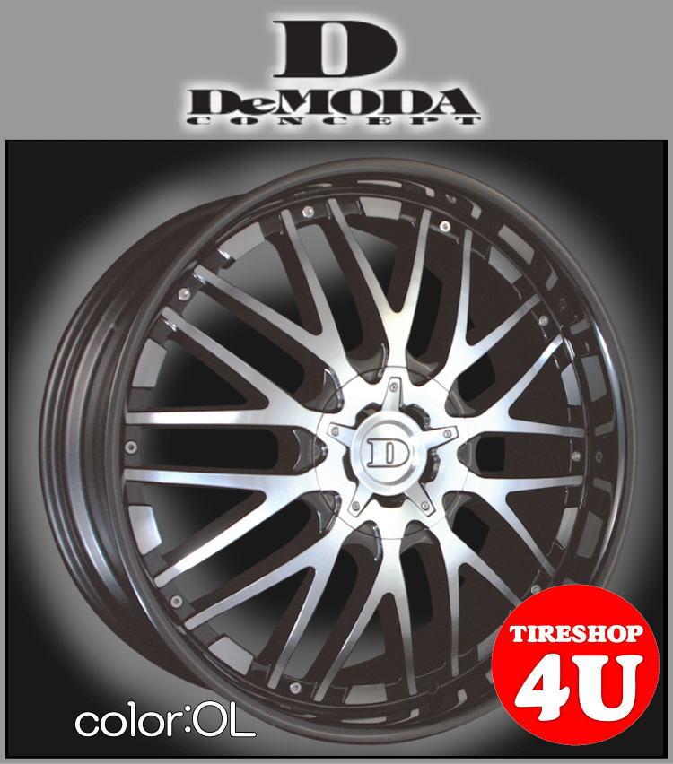 22インチDeMODA Maestro(ディモーダ マエストロ) フォード エクスプローラー(HK) 22×9.5J 5/114.3 ET35 オニキスリップ(OL)265/45R20 新品タイヤホイール4本セット価格 正規輸入品 JWL規格適合品
