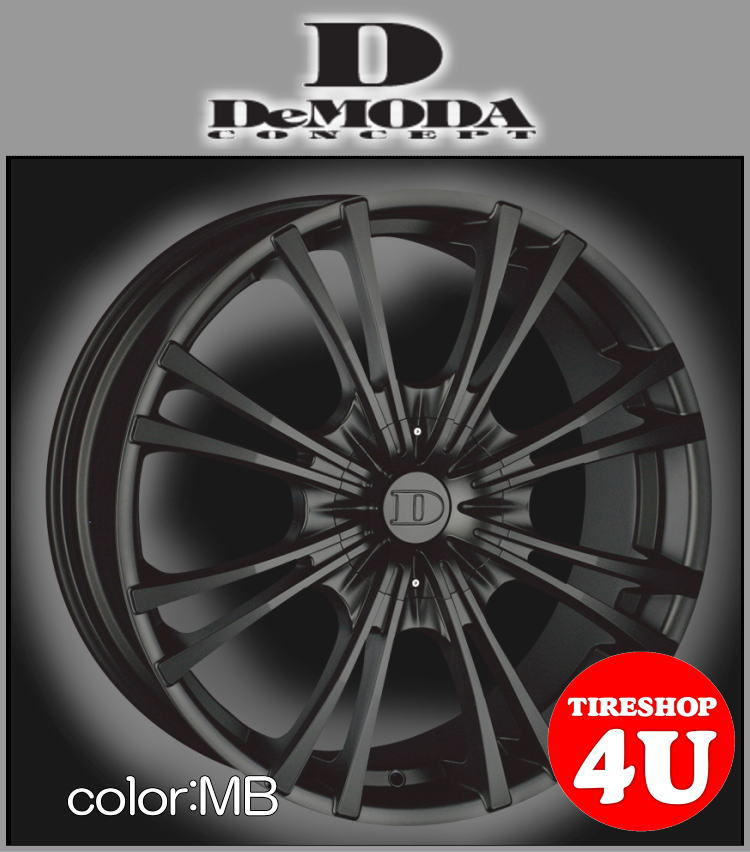 20インチDeMODA MIURA(ディモーダ ミウラ) CX-5 RAV4 20×8.5J 5/114.3 ET45 マットブラック(MB)245/45R20 ※当社指定輸入タイヤ新品タイヤホイール4本セット価格 JWL規格適合品