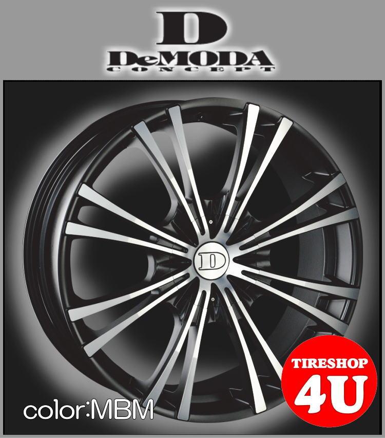 20インチDeMODA MIURA(ディモーダ ミウラ) AUDI Q5(8R) 20×8.5J 5/112 ET35 マットブラックマシン(MBM)255/45R20 ※当社指定輸入タイヤ新品タイヤホイール4本セット価格 JWL規格適合品