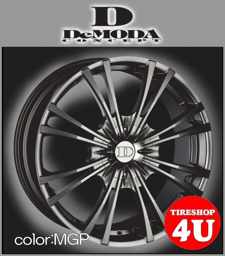 22インチDeMODA MIURA(ディモーダ ミウラ) キャデラック SRX 22×9.5J 6/115 ET35 マットグラファイト(MGP)265/35R22 ※当社指定輸入タイヤ新品タイヤホイール4本セット価格 JWL規格適合品