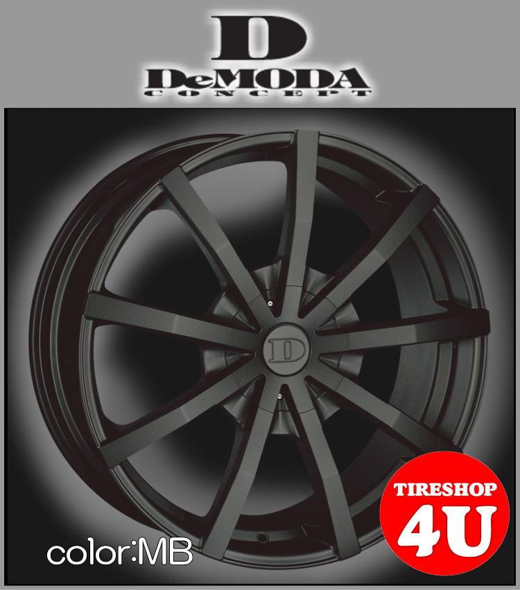 22インチDeMODA SENECA(ディモーダ セネカ) ヴァンガード(純正O/F無し) 22×9.5J 5/114.3 ET45 マットブラック(MB)265/30R22 ※当社指定輸入タイヤ新品タイヤホイール4本セット価格 JWL規格適合品