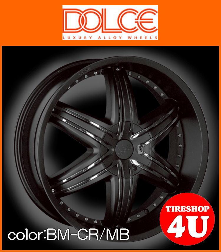 22インチdolce DC48RS シボレー トレイルブレイザー 22×9.5J ブラックマイカドルチェ 新品タイヤホイール4本セット価格 正規輸入品 JWL規格適合品
