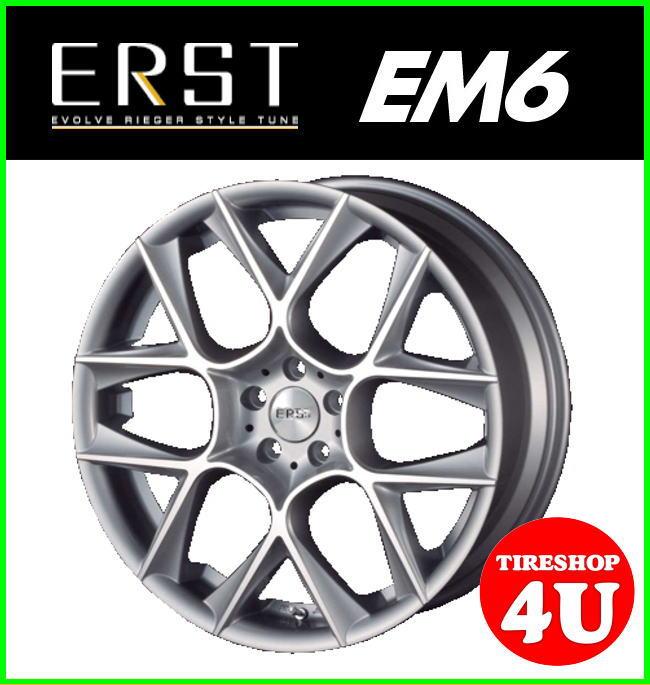 20インチERST EM6 20×8.5J 5/108 +46シルバーポリッシュ 当社指定輸入タイヤ 255/45R20 VOLVO XC60/XC90 鋳造 新品タイヤアルミホイール4本セット価格 エアスト EM6 ハブリング付属