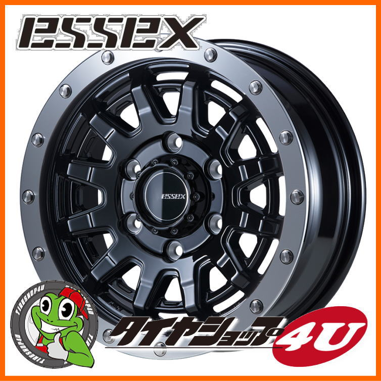 16インチ ESSEX TYPE EX 16×6.5J 6/139.7 +38 ブラック エセックス タイプ EX-16 EX16 ハイエース 200系