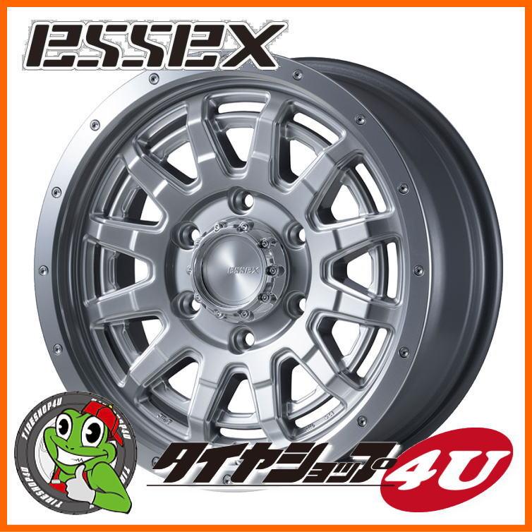 16インチ ESSEX TYPE EX 16×6.5J 6/139.7 +38 プラチナム エセックス タイプ EX-16 EX16 ハイエース 200系