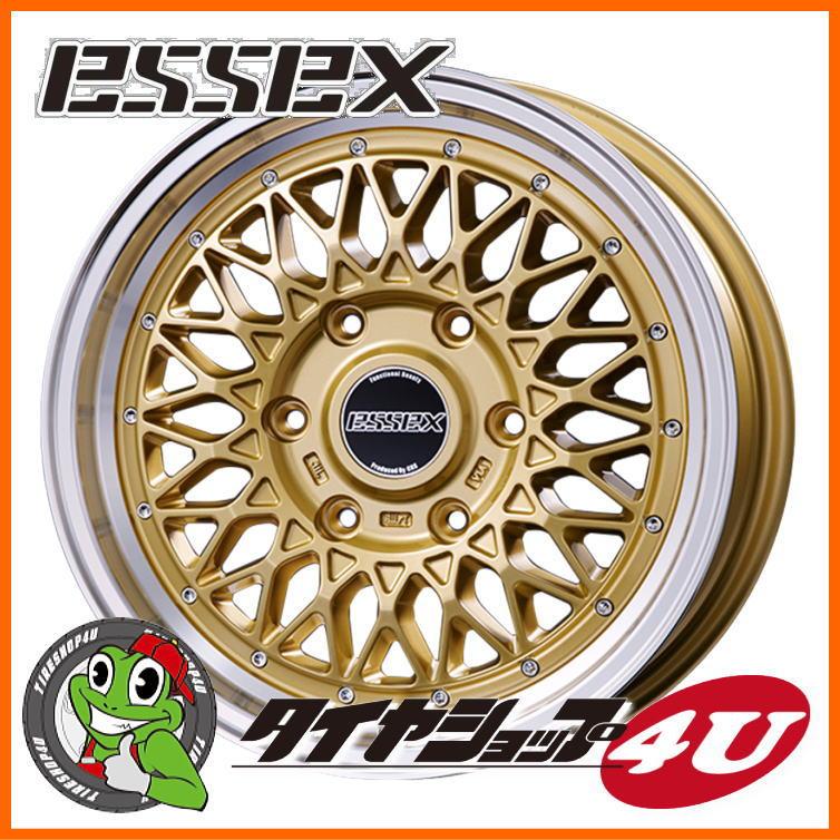 取付対象 18インチ ESSEX Type ENCM 18x7.5 ゴールドトーヨー H20 225/50R18 107/105Lタイヤホイール4本セット 200系ハイエース、レジアスエース 新品エセックス タイプENCM