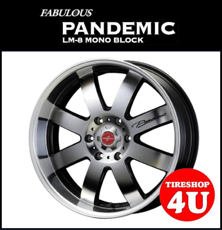 取付対象 16インチファブレス パンデミック LM-8 モノブロック 16×6.5J ブラックポリッシュキャラバン(E25/E26 NV350) TOYO H20 215/65R16C 109/107R 新品タイヤホイール4本セット価格