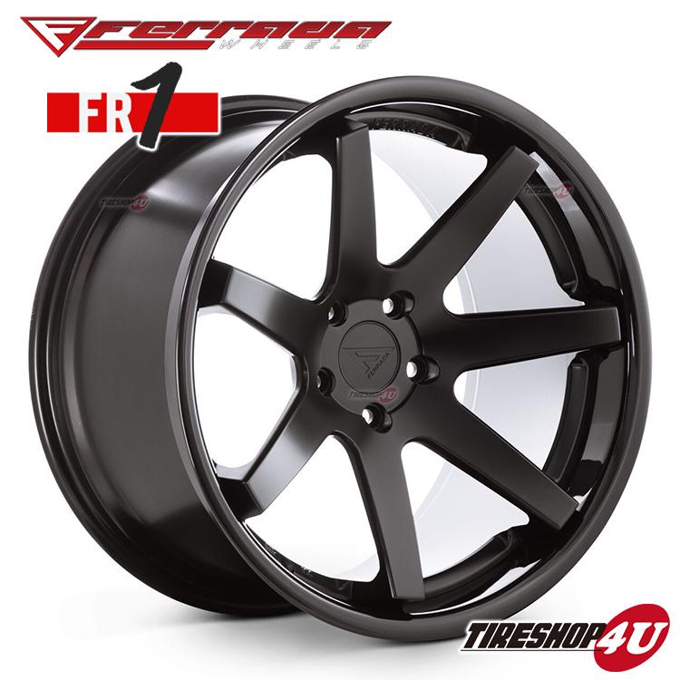 22インチ Ferrada wheels FR1 22×10.5JPCD:5/112・5/114.3・5/120・5/127・5/130 color:マットブラック/SS グロスブラックリップ 新品アルミホイール単品1本価格 フェラーダホイールズ コンケーブ