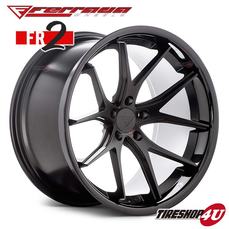 22インチ Ferrada wheels FR2 22×10.5JPCD:5/112・5/114.3・5/120 color:マットブラック/SS グロスブラックリップ 新品アルミホイール単品1本価格 フェラーダホイールズ コンケーブ