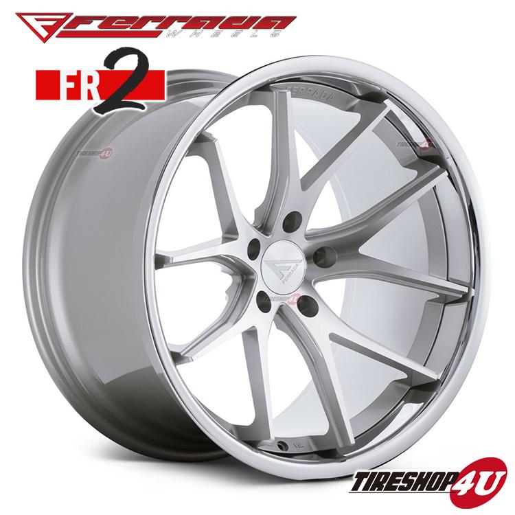 22インチ Ferrada wheels FR2 22×10.5JPCD:5/112・5/114.3・5/120 color:マシンシルバー/SS クロームリップ 新品アルミホイール単品1本価格 フェラーダホイールズ コンケーブ