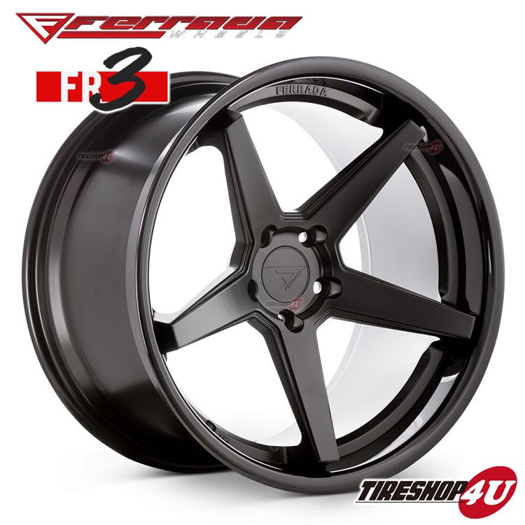19インチ Ferrada wheels FR3 19×9.5JPCD:5/112・5/114.3・5/120 color:マットブラック/SS グロスブラックリップ 新品アルミホイール単品1本価格 フェラーダホイールズ コンケーブ