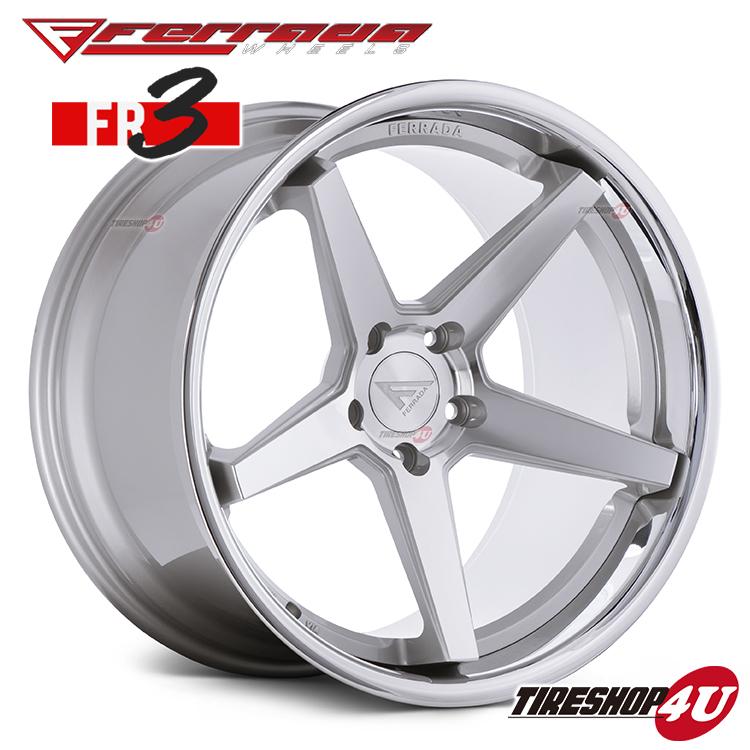 22インチ Ferrada wheels FR3 22×9.0JPCD:5/112・5/114.3・5/120 color:マシンシルバー/SS クロームリップ 新品アルミホイール単品1本価格 フェラーダホイールズ コンケーブ